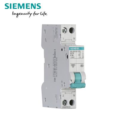 【官方正品】SIEMENS 西门子空气开关1P+N16A20A带漏电保护断路器家用单片双极单模宽度30mA 4.5kA