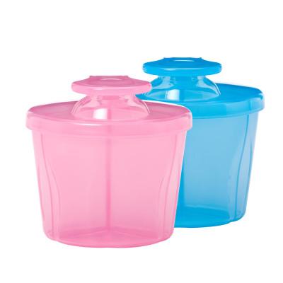 布朗博士 嬰兒奶粉盒三格大容量便攜外出240ml 粉色