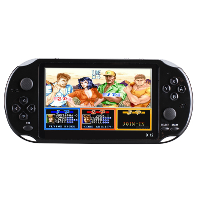 霸王小子X12掌上怀旧大屏PSP PSV游戏机掌机抖音款儿童益智电玩街机GBA玩具 4G内存