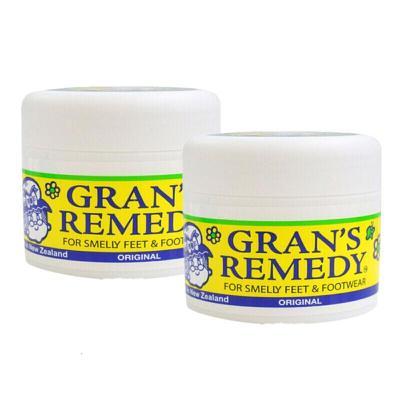 GRAN'S REMEDY 【品牌授权】老奶奶臭脚粉香港脚去膏药粉 泡粉50g 原味 * 2瓶