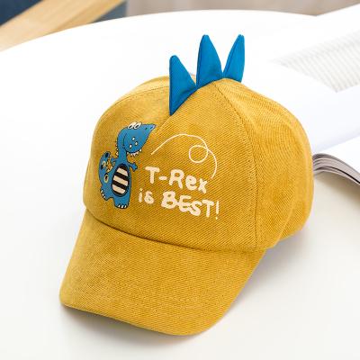 热卖春秋儿童鸭舌帽男女童遮阳帽卡通个性小恐龙帽子宝宝棒球帽韩版潮