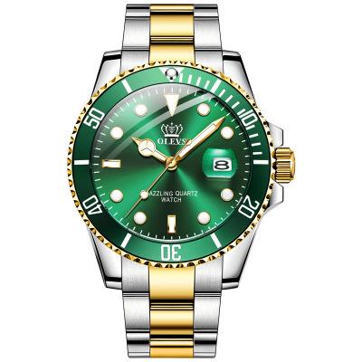 歐利時品牌手表男士綠水鬼石英表防水夜光手表歐美時尚流行腕表