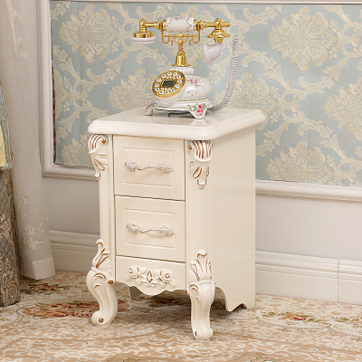 床头柜 窄款床边小柜子新款家具30cm35cm40cm45宽小户型欧式简约迷你床头柜 A款(35cm)金色象牙白 整装