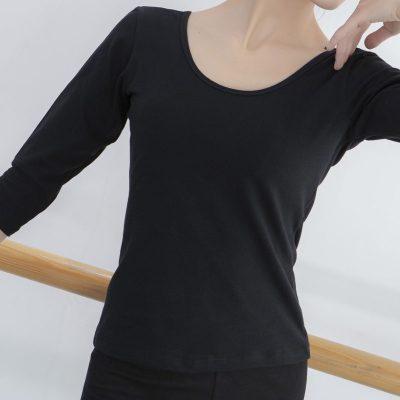 舞蹈練功服女芭蕾舞基訓服成人長短袖跳舞藝考形體瑜伽上衣體服