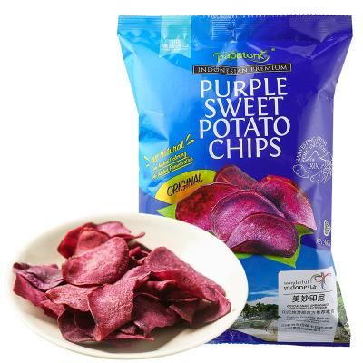 Papatonk 啪啪通紫薯脆片65g袋裝 印尼進口果蔬干休閑零食品