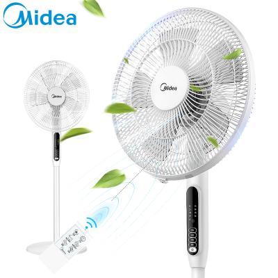 美的(Midea) 电风扇 SAC35BR 3档正常风 5片风叶 7小时定时 俯仰可调节 遥控控制 落地扇