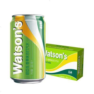 Watsons 屈臣氏香草蘇打水330ml*24罐裝 整箱蘇打汽水云尼含糖含氣汽水