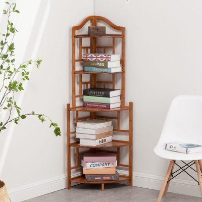 中式角柜實木三角形 歐式客廳角落靠墻柜轉角柜儲物書柜拐角酒柜