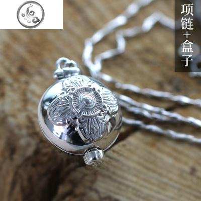 999銀嘎烏盒尼泊爾可打開男女款項鏈像掛件噶烏盒飾品   JiMi其他寶石擺件/掛件/把件