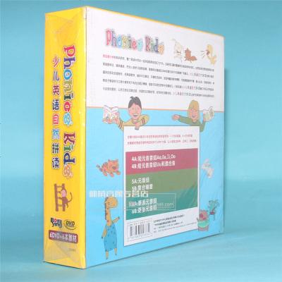 正版光盤 Phonics Kids 少兒英語自然拼讀進階篇 6本教材+6DVD