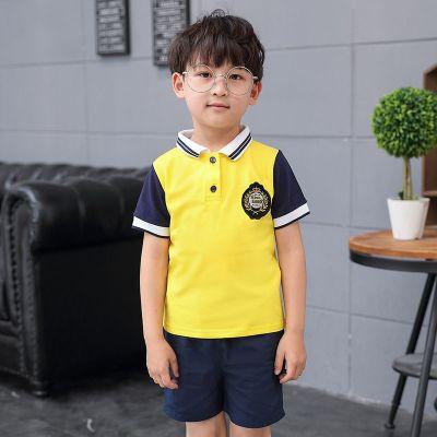 開學季小學生班服運動會校服幼兒園園服套裝夏天男女童裝親子短袖 衫伊格