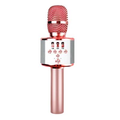 屁颠虫X3 麦克风 全民K歌手机无线蓝牙话筒 家用唱歌神器儿童智能唱歌音箱手机直播家用卡拉OK电视KTV 玫瑰金