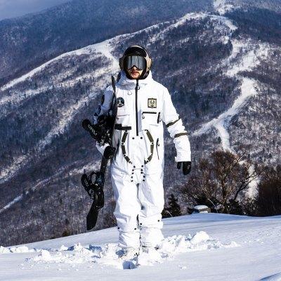 滑雪服男士PINGUP19/20男女单双板连体滑雪服滑雪衣套装透气防水太空nasa