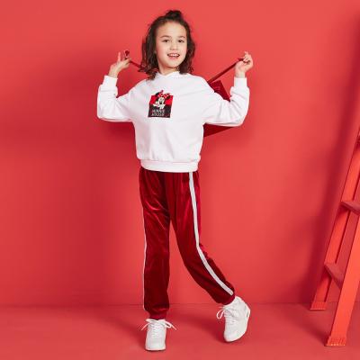 【2件2.5折價:84.8】moomoo童裝女童套裝迪士尼休閑運動女中童針織套裝