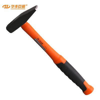 華豐巨箭(HUAFENG BIG ARROW)包塑柄鉗工錘敲擊錘救生鐵錘子榔頭扁頭錘敲打五金工具 200G雙塑檳鉗工錘