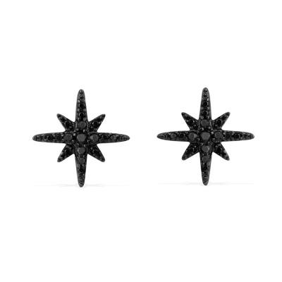 APM Monaco 女士流星耳钉S925银六芒星耳环饰品 星星耳骨钉气质简约小耳坠 AE8419BZR