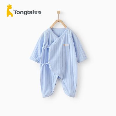 童泰夏季新生兒衣服嬰兒純棉哈衣0-6個月男女寶寶連體衣爬服薄款兒童內衣