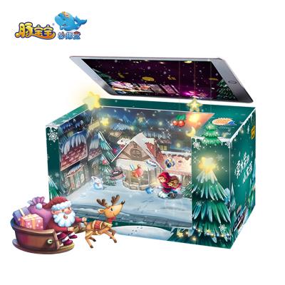 【圣誕節禮物】賣火柴的小女孩裸眼3D魔法盒早教親子益智玩具 贈繪本