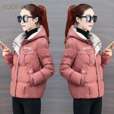 YUDI语弟2019秋冬季新款韩版修身短款女连帽简约外套ins潮