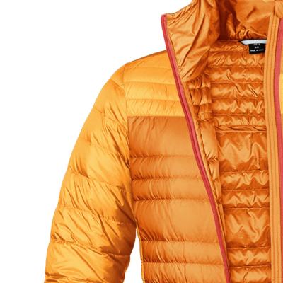 七十二刻 定制羽絨服 男女情侶款羽絨服 橘黃色·黃褐色