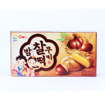 韩国进口 九日大盒板栗打糕258g 进口休闲零食糕点