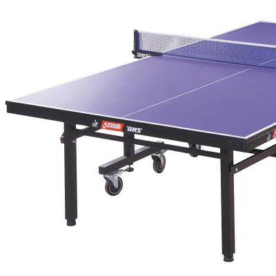 紅雙喜(DHS)乒乓球臺可折疊移動式專業比賽球桌T1223重量145KG(附高檔網架、兵拍、球)