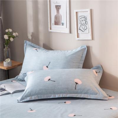 艾瑪諾歐家紡 全棉斜紋單品枕套 學生宿舍單人枕套一對裝純棉印花枕頭套枕芯套
