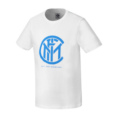 國際米蘭俱樂部2019年夏季新品男士LOGO印花全棉短袖運動T恤純色男圓領短款