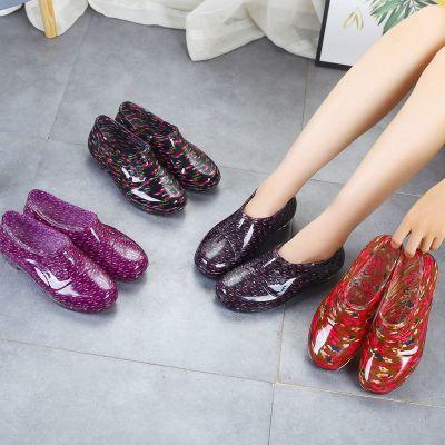 低幫雨鞋女居家短筒水靴廚房防滑膠鞋套鞋塑膠鞋工作耐磨勞保水鞋 衫伊格(shanyige)