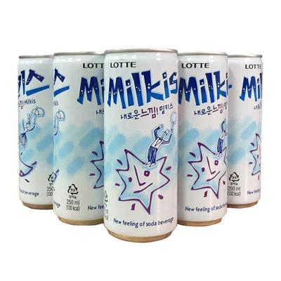 樂天(LOTTE) 妙之吻乳味碳酸飲料250mlx9瓶 韓國進口牛奶碳酸汽水進口飲品