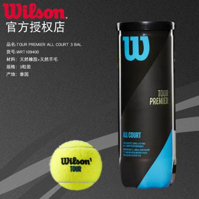 Wilson威爾勝 全場地專業用球 3只裝訓練比賽網球WRT109400