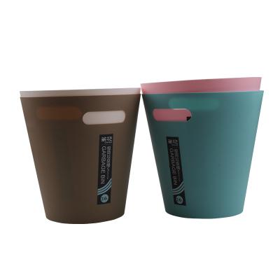 茶花家用垃圾桶客厅 可爱纸篓时尚无盖创意欧式厨房卫生间个性垃圾筒