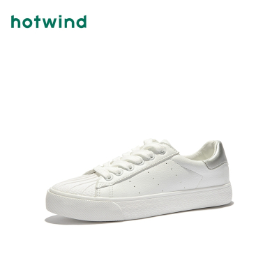 熱風hotwind春季潮流時尚休閑鞋深口圓頭拼色小白鞋H14W9102