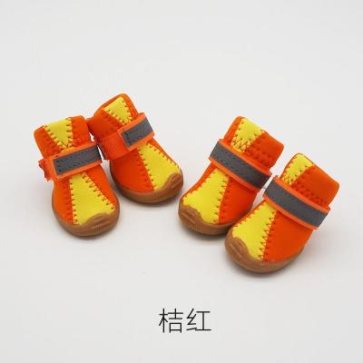 寵物鞋子寵物拼色鞋_狗狗鞋子_法耐鞋子四件套四季透氣軟底