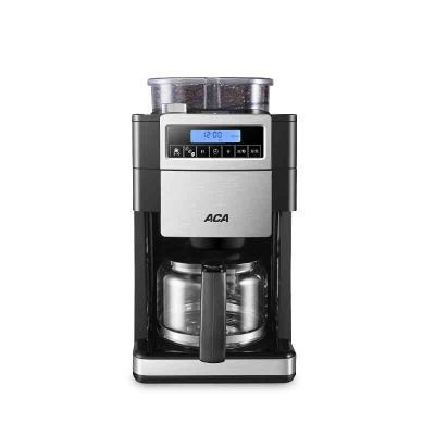 北美電器(ACA) /器 商用咖啡機家用全自動磨豆美式研磨一體機 銀色+黑色