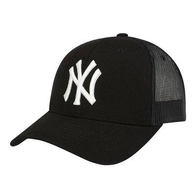 MLB棒球帽洋基NY彎檐半網帽子遮陽帽男女同款休閑運動鴨舌帽