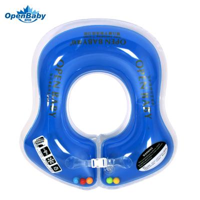 歐培(OPEN BABY)嬰兒游泳圈 兒童游泳救生圈 幼兒腋下圈 藍色M碼
