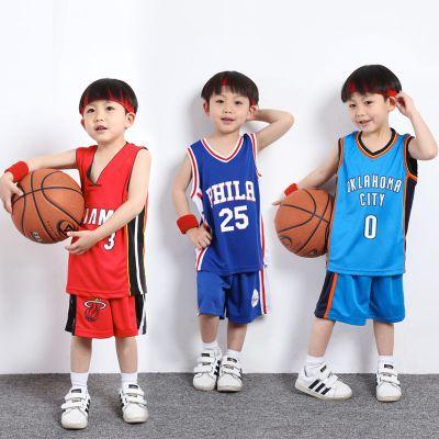 星客士 兒童籃球服套裝幼兒表演服籃球比賽服勇士庫里湖人詹姆斯科比球衣