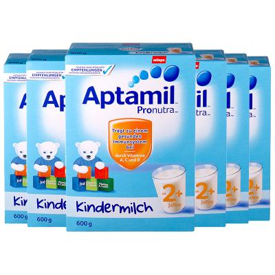 6罐裝 | 【均衡營養】Aptamil 德國愛他美 兒童配方奶粉 易樂罐 2+段/5段(2歲以上)600g/罐 紙盒裝