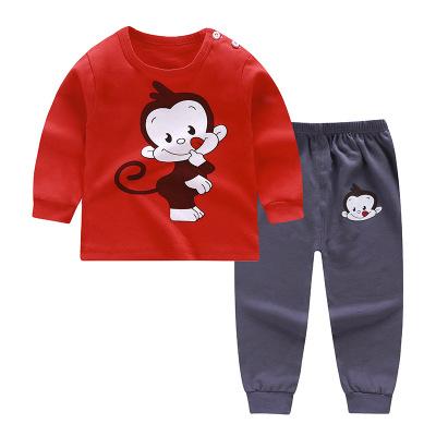 兒童春季套裝純棉寶寶內衣男童春裝女童秋褲嬰兒衣服小童保暖睡衣