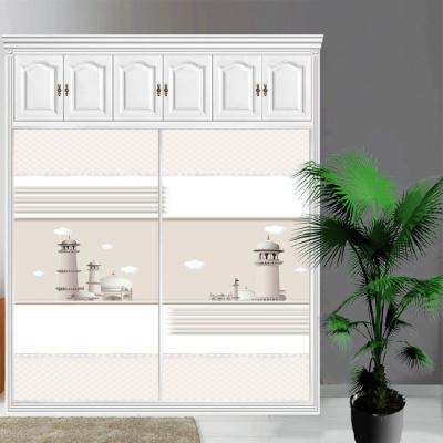 衣柜CIAA定做衣櫥推拉壁柜簡約滑動3定制鋼化玻璃衣柜移 6