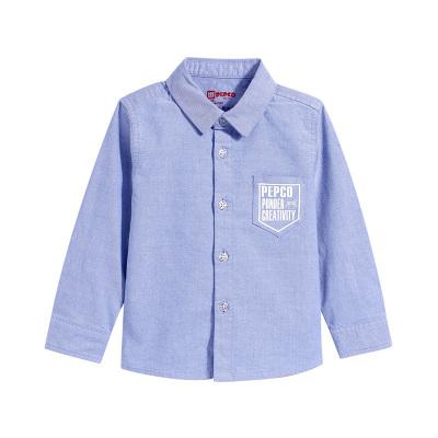 小猪班纳童装男宝宝衬衫2019春装儿童长袖衬衣男童上衣