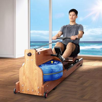 立久佳(LIJIUJIA)劃船機 木質水阻家用原木劃船器健身器材 進口白蠟木