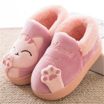秋冬儿童拖鞋毛毛男童女童室内可爱卡通恐龙宝宝小孩棉鞋加绒防滑