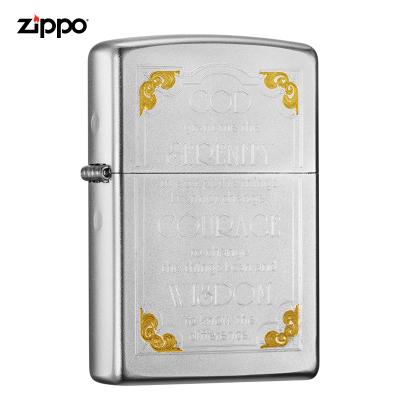 zippo芝寶打火機美國原裝ZIPPO打火機警世箴言之寶打火機28458-043297