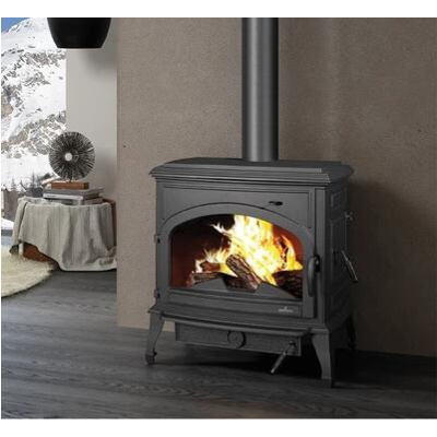 农村壁炉真火燃木别墅壁炉取暖器欧式铸铁火炉 壁炉架家用弧威