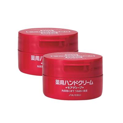 2盒|資生堂(SHISEIDO) HANDCREAM 美潤 藥用美肌護手霜 圓罐裝 100g