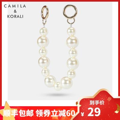 CAMILA&KORALI旗艦店箱包配件珍珠鏈條包包配件鋼絲串珠腋下鏈條手拎珍珠鏈