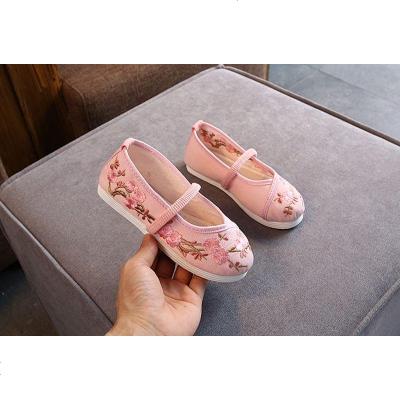 印子轩女童绣花鞋儿童汉服鞋子老北京布鞋宝宝唐装鞋中国风表演鞋