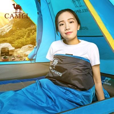 CAMEL駱駝戶外睡袋 1.1kg露營旅行隔臟可拼接雙人室內成人睡袋